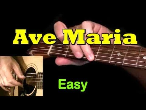 Ave Maria Easy Guitar Lesson Tab Chords By Guitarnick Youtube