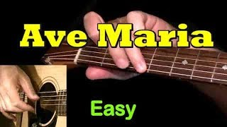 AVE MARIA: Easy Guitar Lesson + TAB + CHORDS by GuitarNick