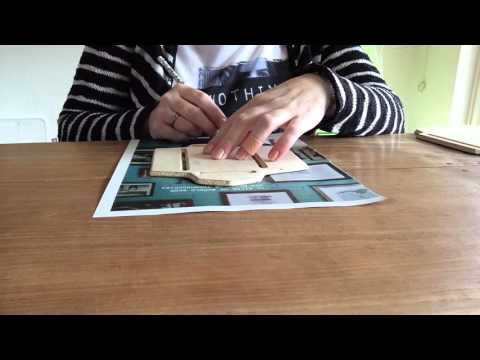 ASMR page turning magazine and making envelopes from the pages