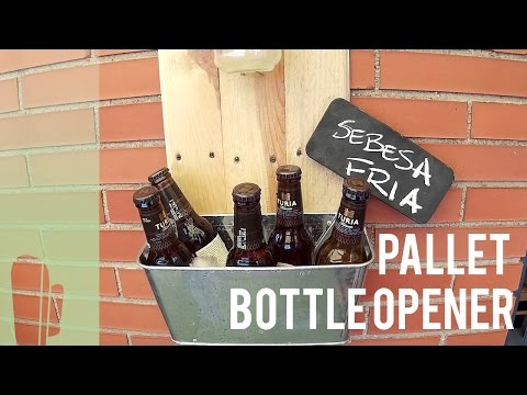 Pallet wood bottle opener
