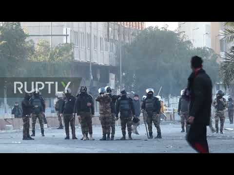 Iraq: Chaos in Baghdad as police fire tear gas at protesters
