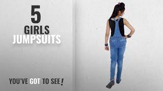 10 Best Girls Jumpsuits [2018 Best Sellers]: Sunday Casual Girls' Jumpsuit (Mgd--Slight-38_Light