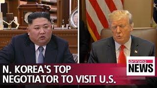 N. Korea's top nuclear negotiator to visit Washington on Thursday, meet Pompeo