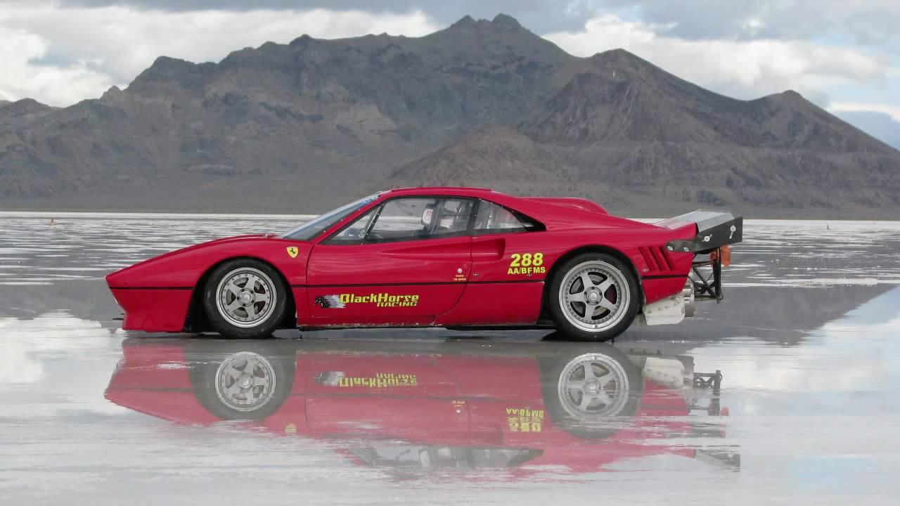 Ferrari 288 Gto Rebody At Bonneville Salt Flats World S
