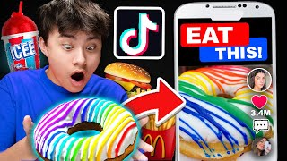 Letting TIKTOK Decide What I Eat For 24 HOURS! (Fast Food Challenge)