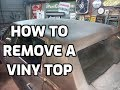 How to remove a vinyl top - 1970 Cadillac project continues...