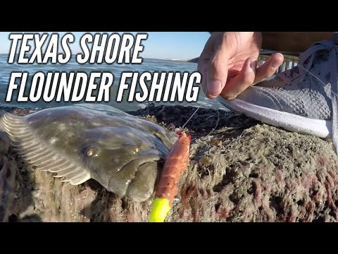 Texas Flounder Fishing From Shore