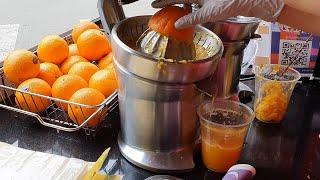 100% 오렌지 착즙 쥬스, 망원시장 / 100% or…