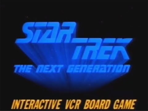 Star Trek: The Next Generation Interactive VCR Board Game -