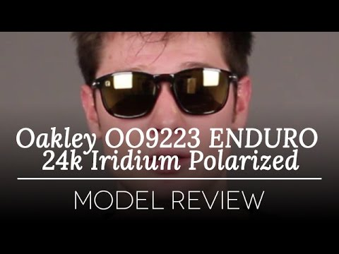 Oakley OO9223 ENDURO 24k Iridium Polarized Sunglasses Review - YouTube 4e06bd0ef6