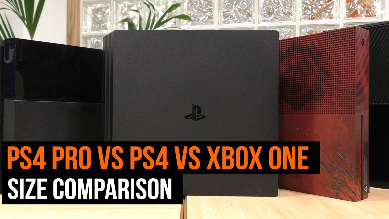 PS4 vs Xbox One Size Comparison - Gimme Gimme Games |Ps4 Vs Xbox One Size