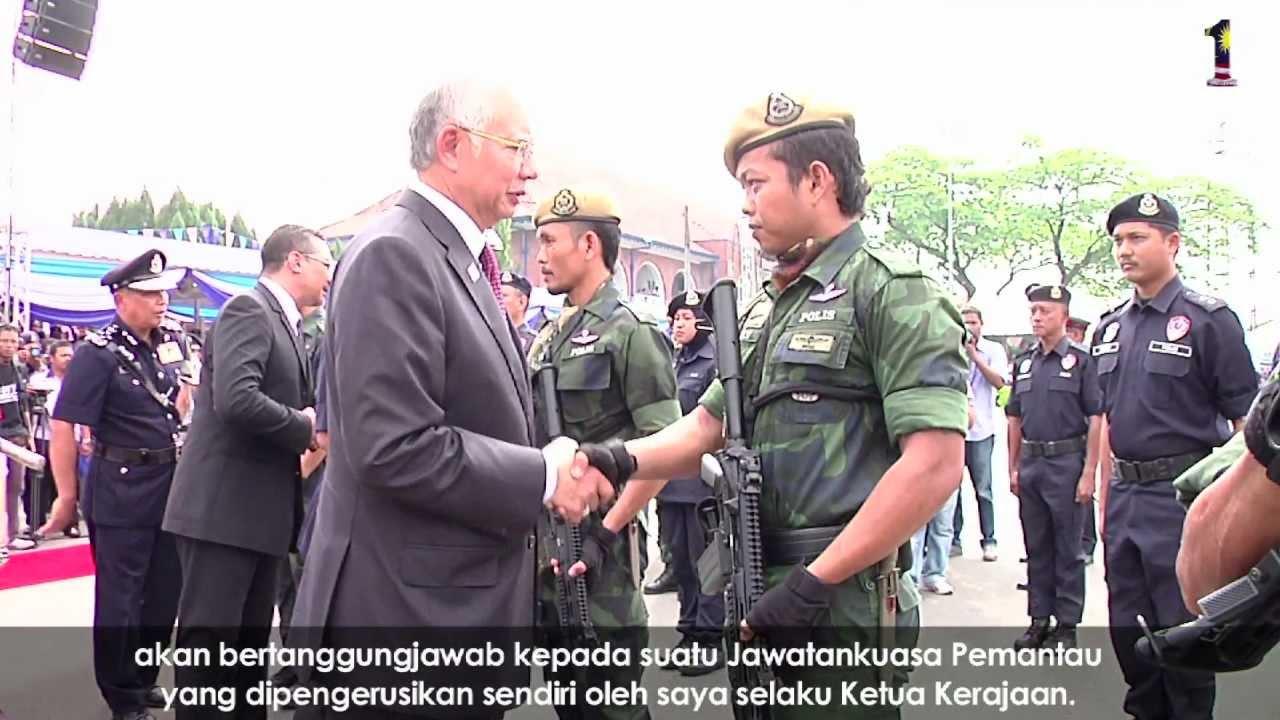 Najib Razak Sambutan Peringatan Hari Polis Ke 206 Youtube