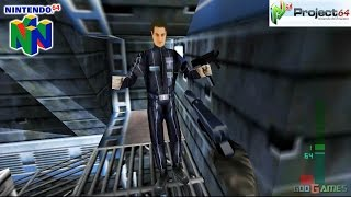 Perfect Dark - Gameplay Nintendo 64 1080p (Project 64)