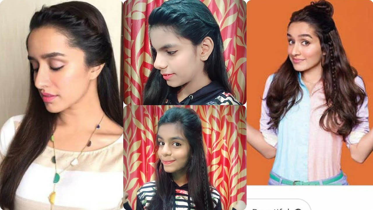 How To Make These Shradha Kapoor S Hairstyles At Home Simple Easy Hairstyles Long Medium Hair Youtube