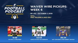 Waiver Wire Pickups: Week 6 w/ Jake Ciely (Ep. 412)