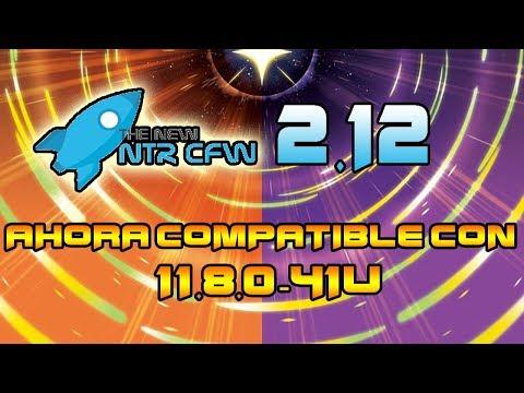 [ACTUALIZACION] NTR CFW V2.12 AHORA COMPATIBLE 11.8 (CAPTURADORA WIFI/CHEATS POKEMON)