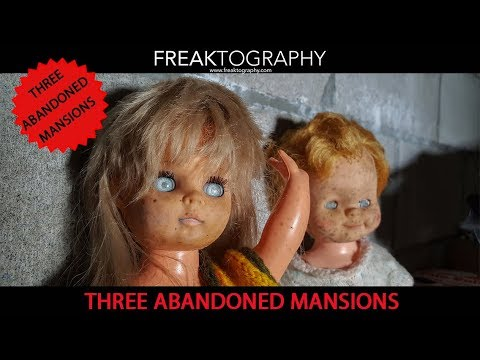 Exploring 3 Abandoned Mansions on a street with 5 Abandoned Mansions   Freaktography & Carlo Paolozza