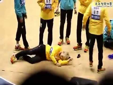 [MBLAQ] Seungho &  Mir fighting (Fancam) @ Idol Athletics