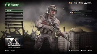 PS4 PRO Call of duty MW RM Multiplayer playing with viewer's