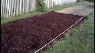 Amending my garden with mushroom soil