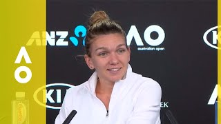 Simona Halep press conference (4R) | Australian Open 2018