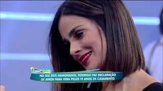 """""""Eu me casaria com você todos os dias da minha vida"""", responde Vera Viel ao pedido de Faro"""