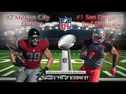 Relocation Bowl 2! Mexico City Diablos vs San Diego Red Dragons | RFL Season 2 Championship!