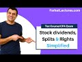 Taxation of stock dividends  Stock Splits |Stock Rights | Corporate Income Tax Course | CPA Exam REG