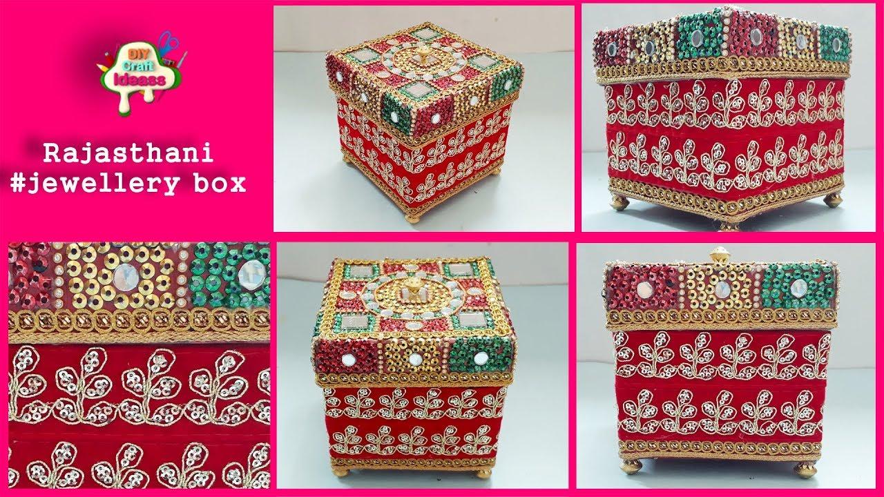 Rajasthani Rajasthani Arts And Craft Jewellery Box Diy Craft