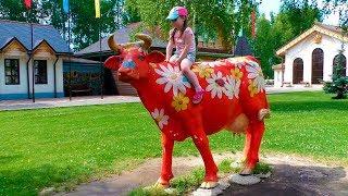 Yulya Pretend play farmer and ice cream maker Nursery songs for kids