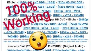 how to open tamilrockers website - movie download website