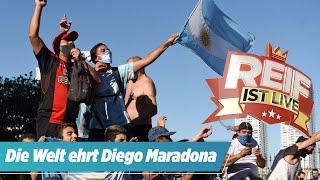 Unfassbar, wie die Welt Maradona feiert | Reif ist Live