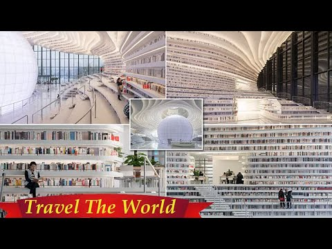 China's Tianjin Binhai Public Library revealed in photos  - Travel Guide vs Booking