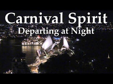 Carnival Spirit - Departing past the Sydney Opera House