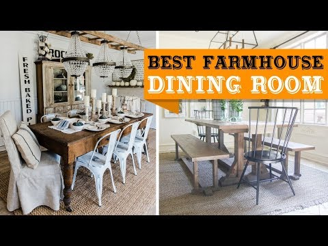 80+ Farmhouse Dining Room Design and Decor Ideas