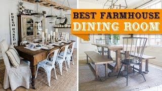 80+ Farmhouse Dining Room Design and Decor Ideas