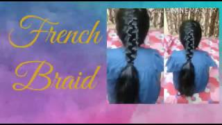 How To Basic French Braid French Flat Hairstyle Easy Hairstyle For Long Hair Hairstyle Youtube