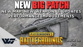 NEW BIG PATCH COMING - NEW Weapon, Map, UI Updates & Performance Improvements in PUBG