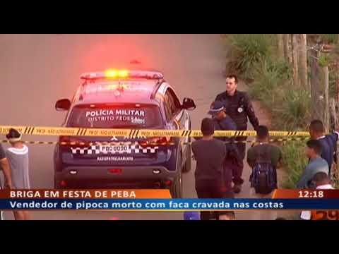 DF ALERTA - Vendedor de pipoca morto com faca cravada nas costas