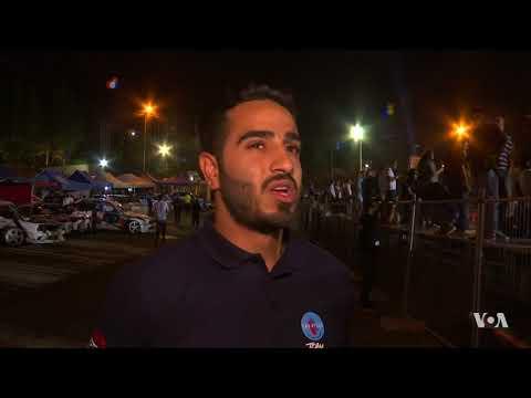 Car Racers in Jordan Go Head-to-Head Chasing Title, 'King of Drift'