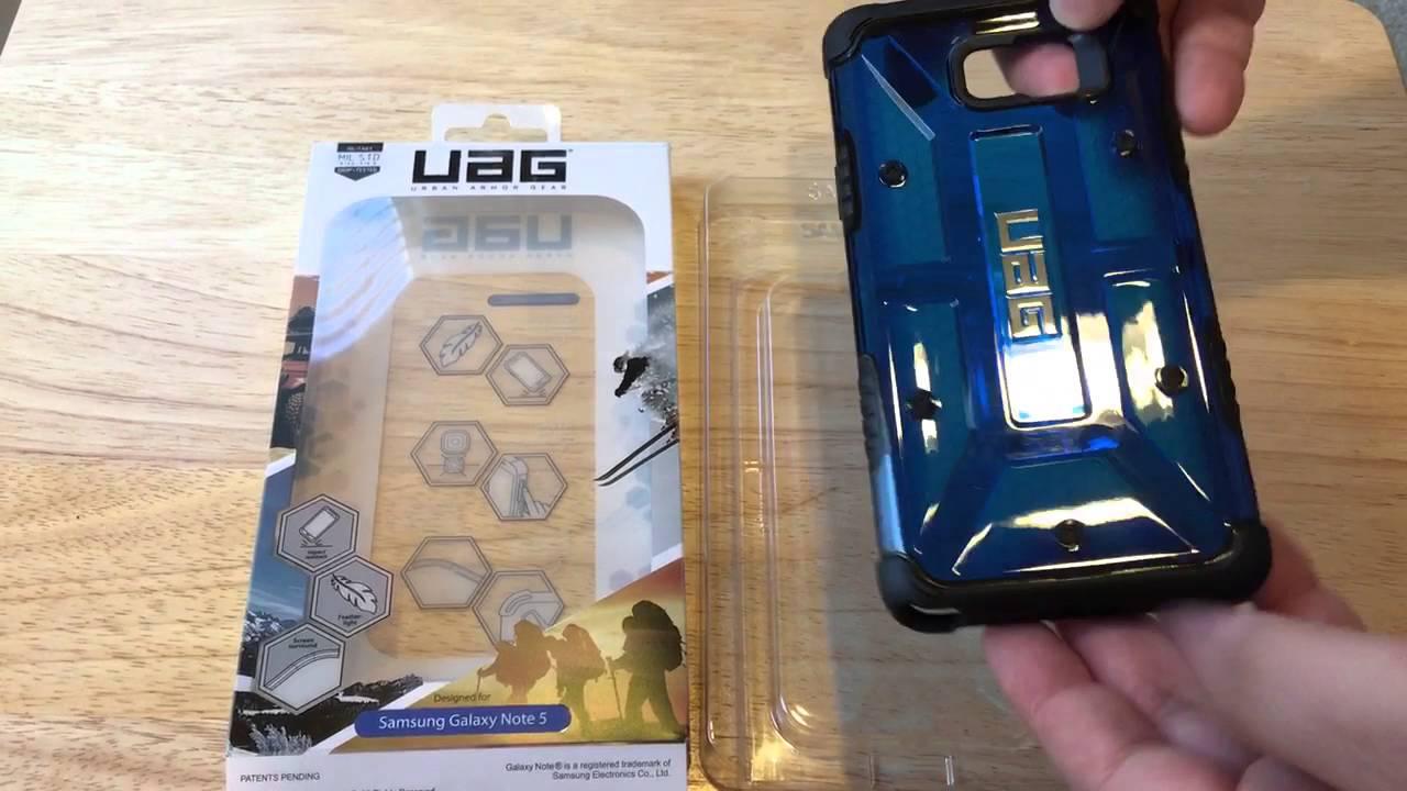 new concept 20b20 02e4d Urban Armor Gear UAG Samsung Galaxy Note 5 Case Unboxing 1-24-16