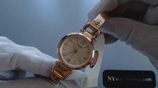 a3b8cf9a870 Women s Rose Gold Fossil Georgia Mini Bangle Strap Watch ES3268 by ...