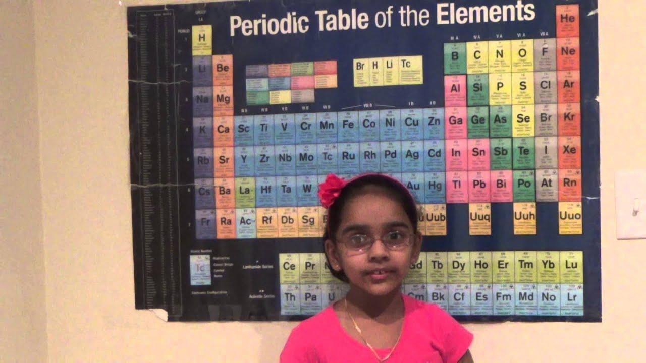 Amrita vukoti talking about periodic table of the elements youtube amrita vukoti talking about periodic table of the elements urtaz Choice Image