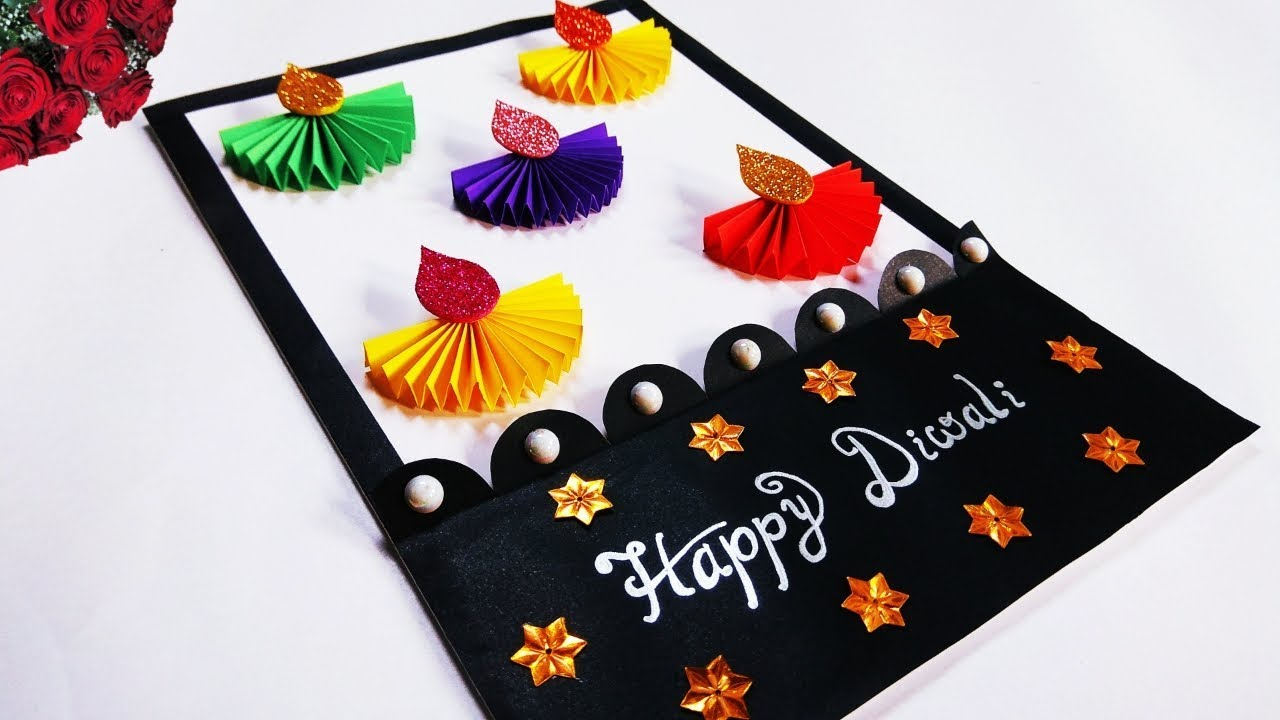 easy diwali card making ideas  diwali greeting card  how