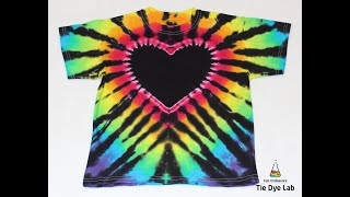 Making A Black Heart and Rainbow Tie Dye Shirt