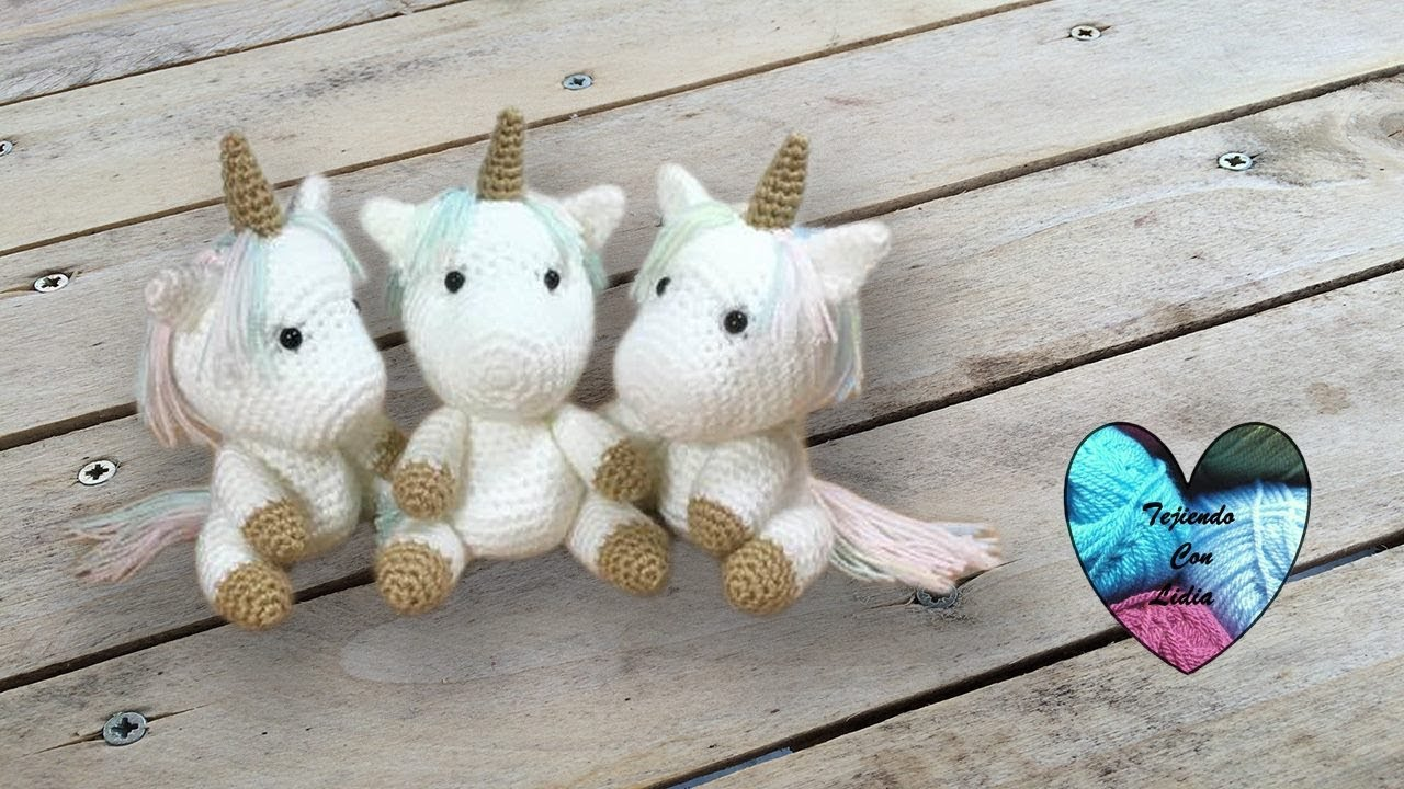 Bebés unicornios tejido a crochet Amigurumi parte 1 - YouTube