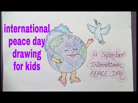 International peace day drawing for kids