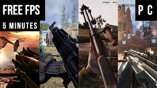 50 Best Free FPS Games For PC in 5 Minutes!