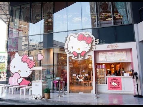 "HELLO KITTY HOUSE and CAFE BANGKOK Thailand "" thinks to do with childs"" Asia travel trip shopping"