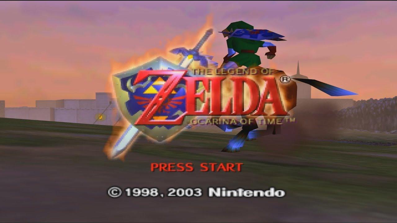 Legend of Zelda Ocarina of Time N64 - Title Screen Sequence (3D/VR/SBS)